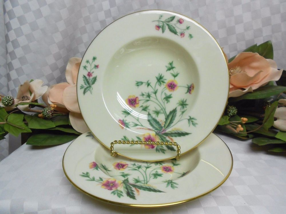 Lenox China Dinnerware Country Garden pattern #W302 Set 2 Soup Bowl(s) #Lenox #Lenox & Lenox China Dinnerware Country Garden pattern #W302 Set 2 Soup Bowl ...