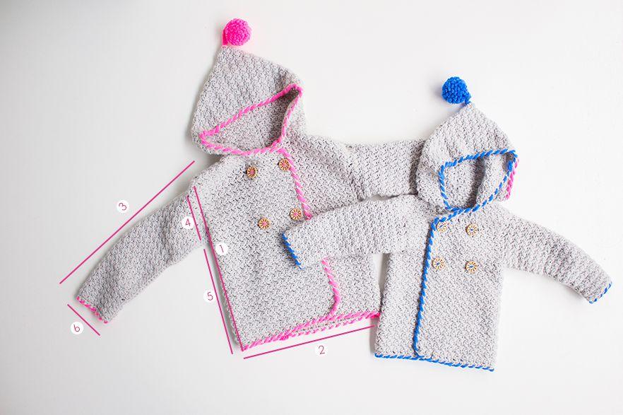 Sand Stitch Baby Cardigan - Free Crochet Pattern | Pinterest | Bebé