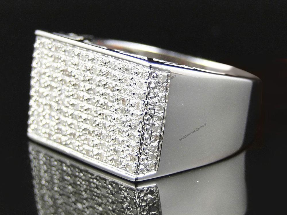 Men's 18K White Gold 3.00 Diamond Wedding & Engagement