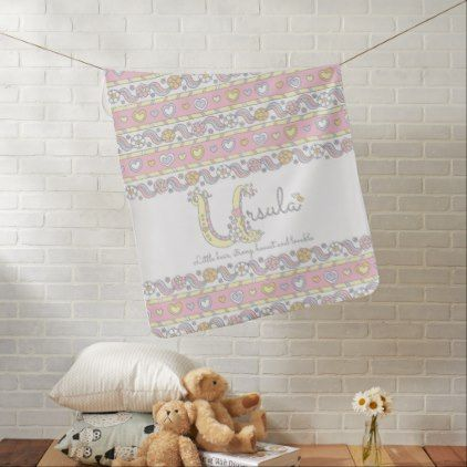 Ursula name and meaning hearts baby blanket ursula name and meaning hearts baby blanket baby gifts child new born gift idea diy negle Choice Image