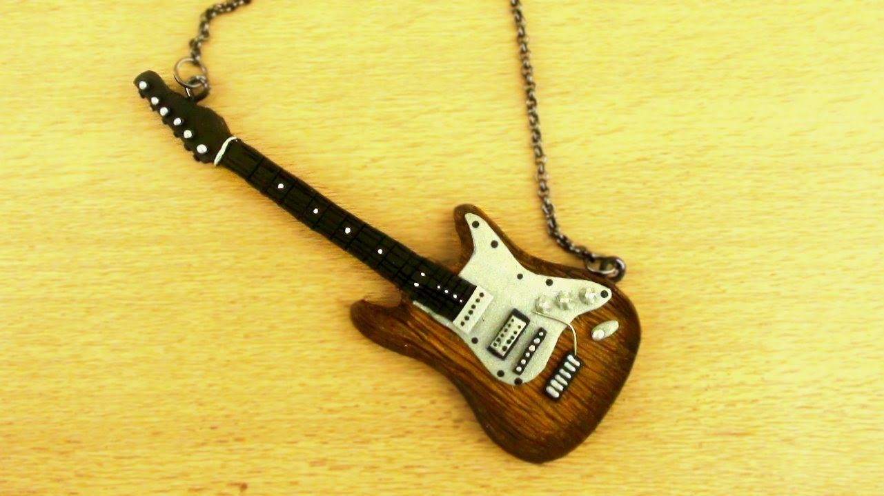 Polymer Clay Electric Guitar Tutorial Charms Doll Houses
