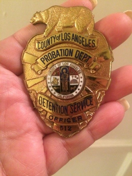 Los Angeles County Probation Officer Badge Police Badge Badge Probation Officer