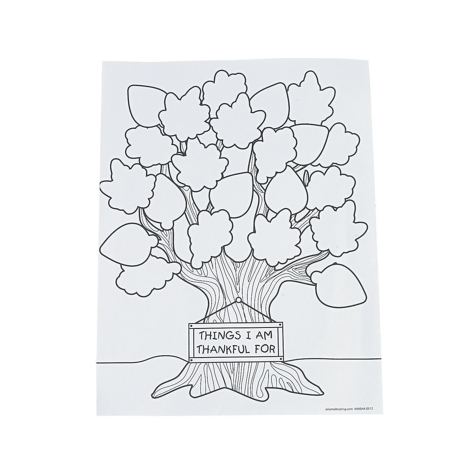 Tree of Thanks Coloring Sheets (50 pcs. per unit) 8 1/2\