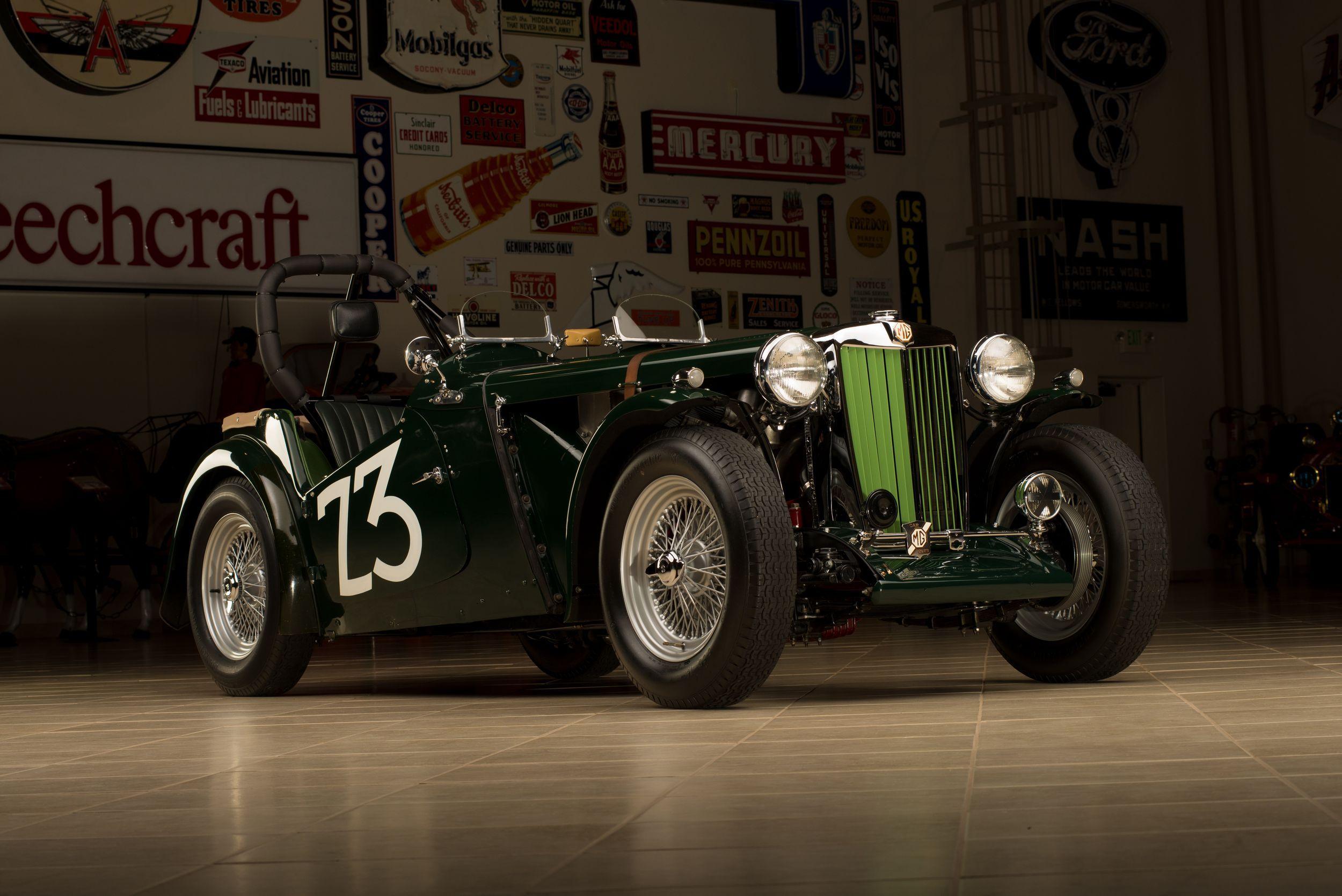Carroll Shelby\'s first race car, a 1949 MG TC, heads | Carroll ...