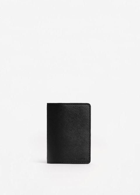 Porte-cartes effet saffiano