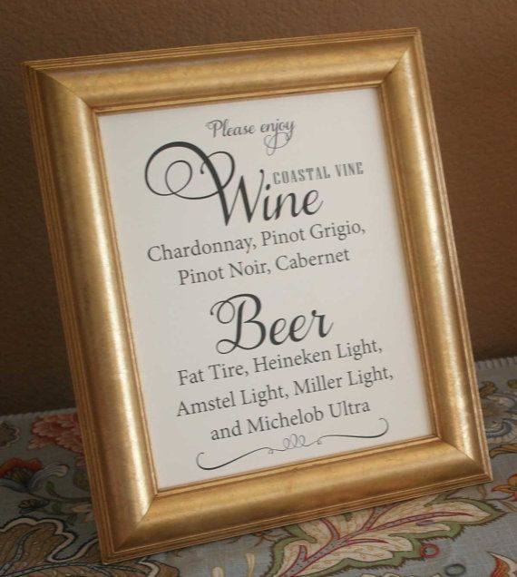 Beer And Wine List Menu Custom Made With Your Items