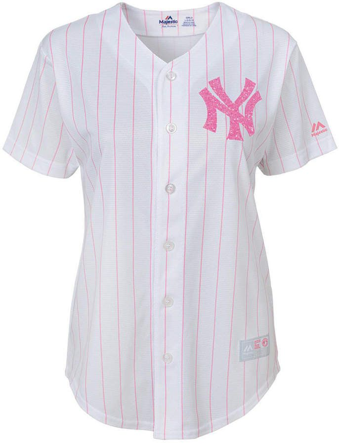 456abf95f Girls' New York Yankees Pink Glitter Jersey in 2019 | Products ...