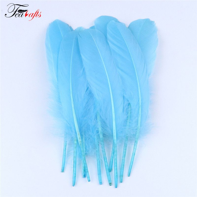15 20cm Sky Blue Es0801028 Wedding Hats Hat Hairstyles Goose Feathers