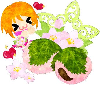 春のフリーのイラスト素材可愛い女の子と桜餅  Free Illustration of spring A cute little girl and rice cakes of cherry blossom   http://ift.tt/2lj8DoB