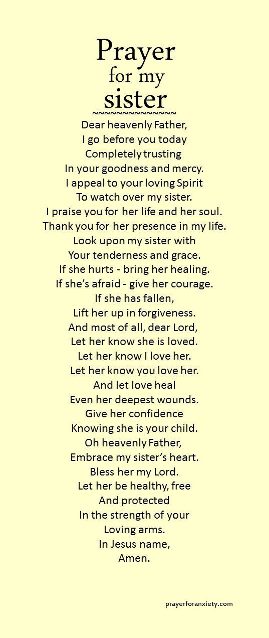 Prayer For My Sister Quotes New Prayer For My Sister  Pinterest  Bible Spiritual And Inspirational