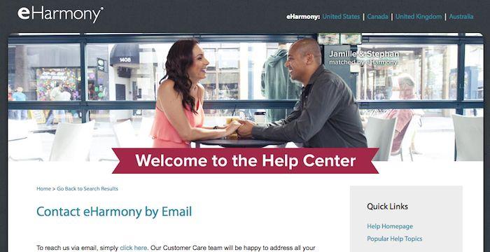 Eharmony help email