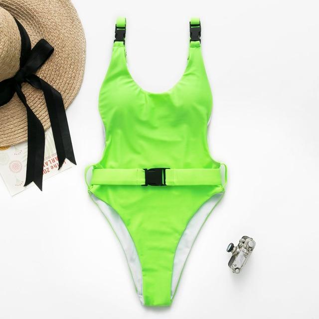 58a9d69881d5 V-neck High Cut Brazilian Push Up One Piece Swimwear - Popviva #swimwear #