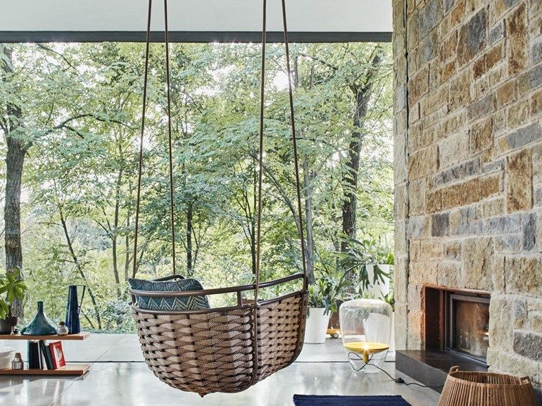 PORTOFINO Garten-Hängesessel by Roberti Rattan Design Santiago - designer hangesessel mit gestell