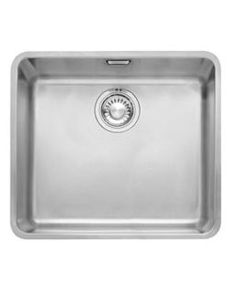 Cubos 490x440mm Undermounted Stainless Steel Bowl 90mm Outlet Including Waste Overflow And Clips Single Bowl Sink Sink Stainless Steel Kitchen