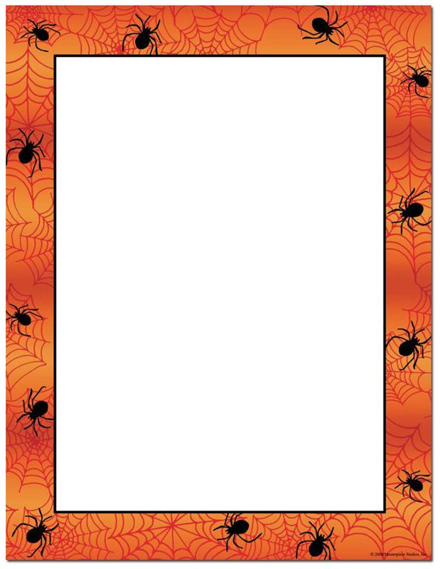 Fall Halloween Borders