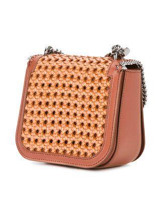 67db251241da Stella McCartney Tan Falabella Box wicker Mini Shoulder Bag ...