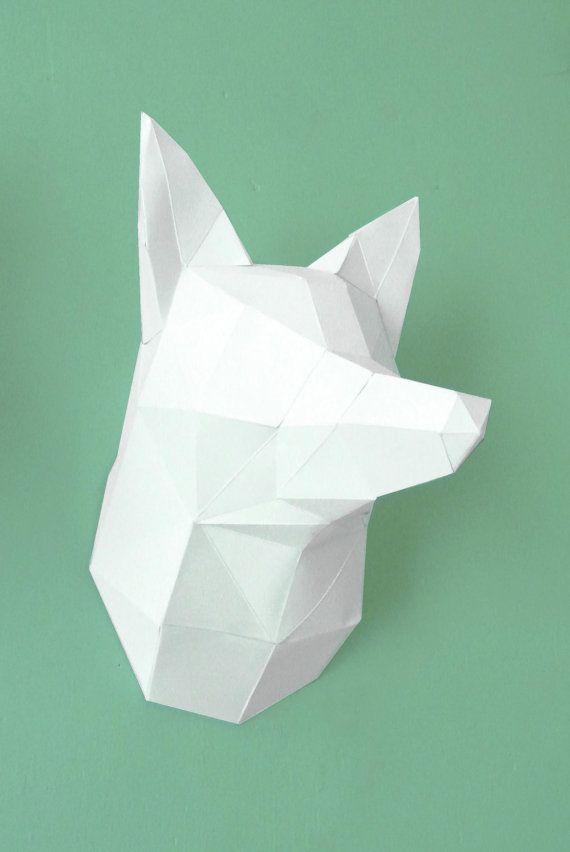 Exceptionnel Trophy head of Fox paper to mount | Renard blanc, Tête de renard  IW09