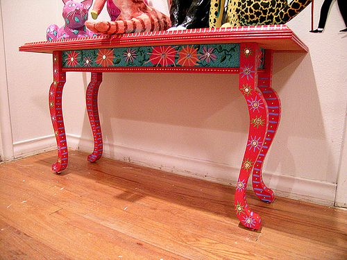 mexican painted furniturePainted Table by Patti Haskins  Mexican Furniture Painting Ideas