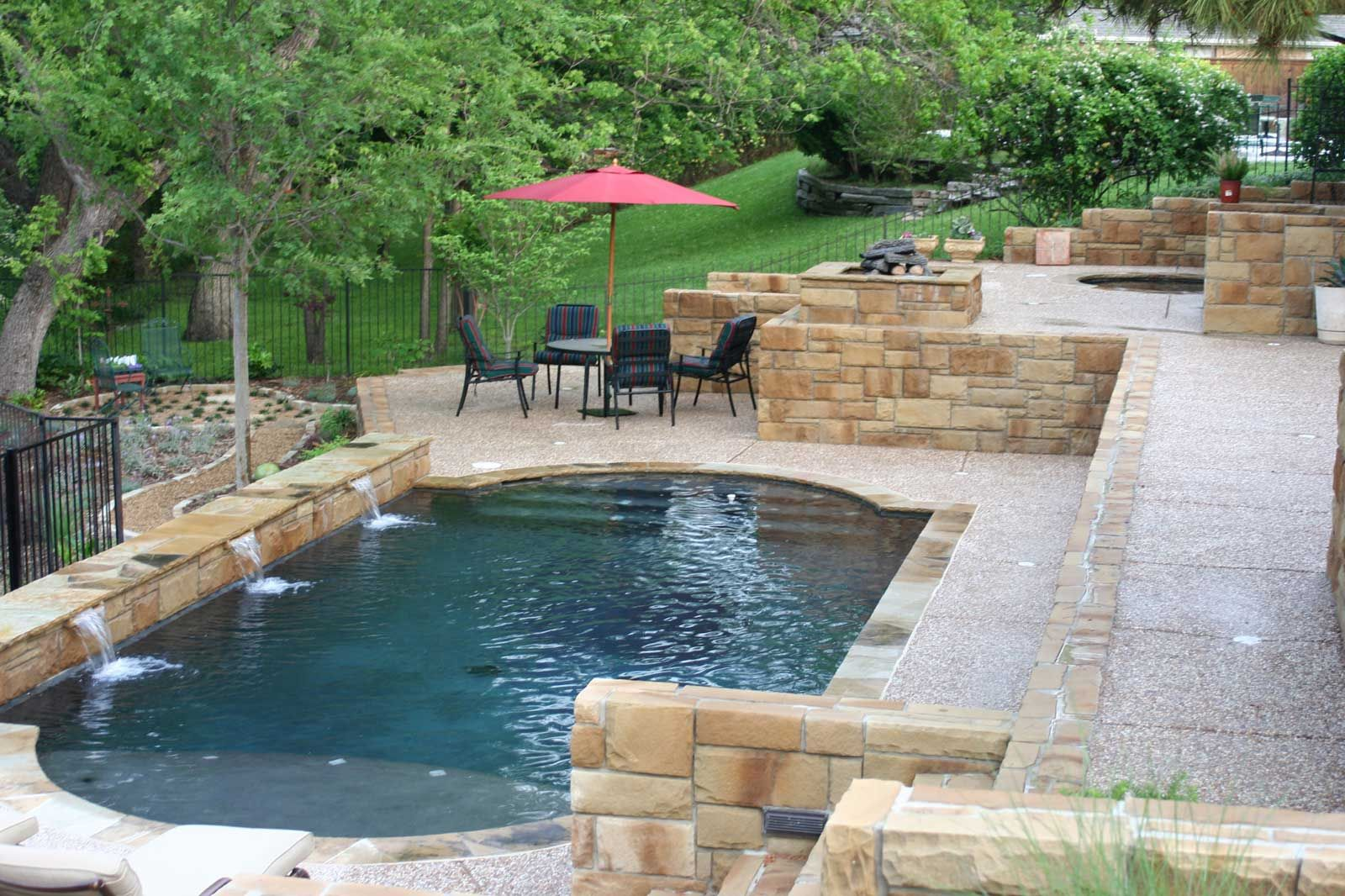 Backyards: Backyard Square Swimming Pool Swimming Pools For Small Es Pool  Backyard Designs Foruum Newest