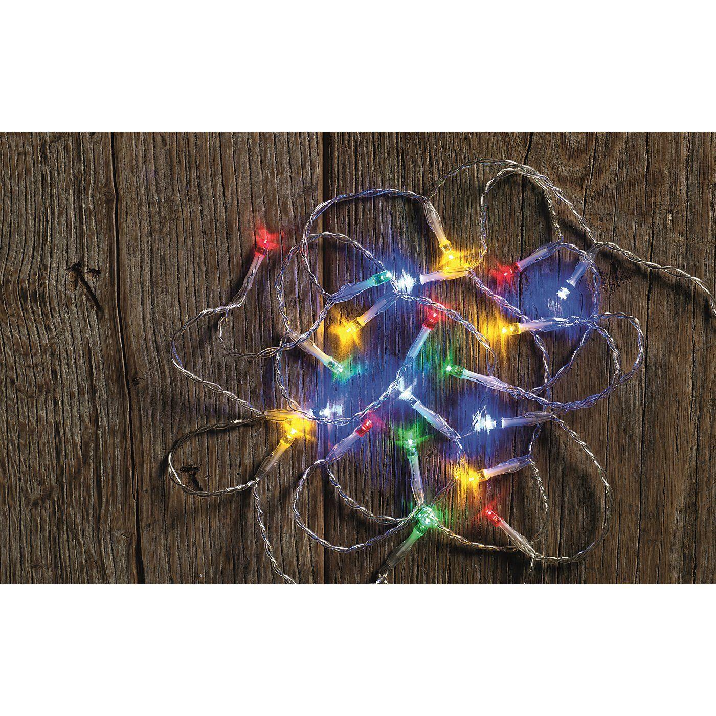 Multi Coloured Lights 20 Pack Tree Decorations ASDA