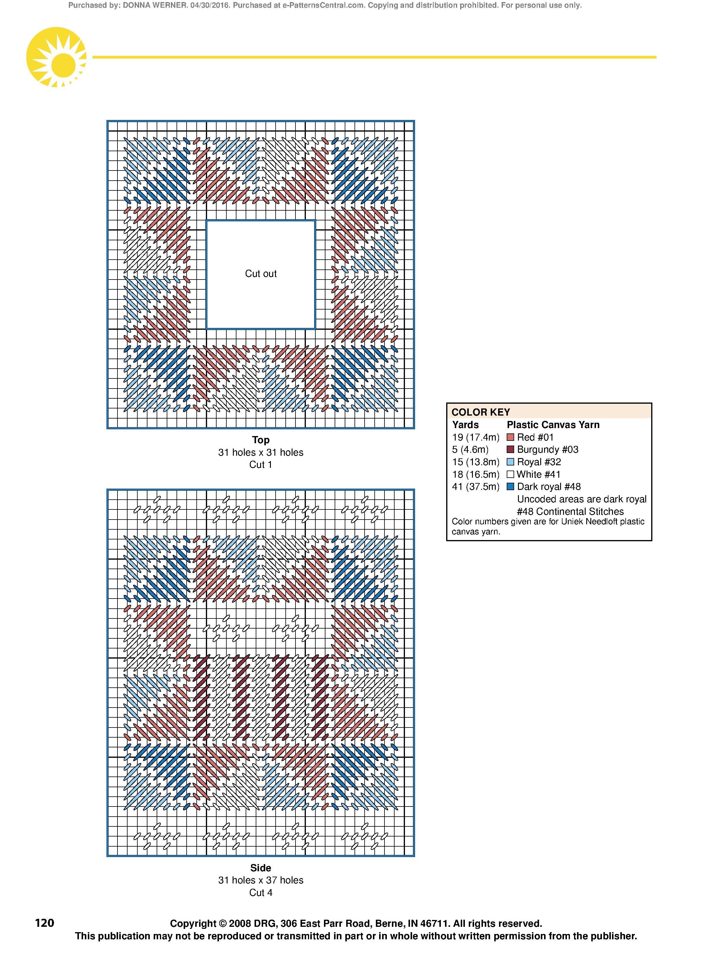 Patriotic Quilt Tissue Topper Pg 2/2 by Angie Arickx | Patriotic ...