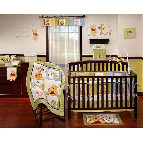 Disney Baby   Winnie The Pooh Sunshine Patch 4 Piece Crib Bedding Set