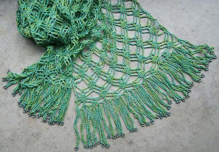 10 Easy Free Crochet Lace Scarf Patterns Bellesas Pinterest