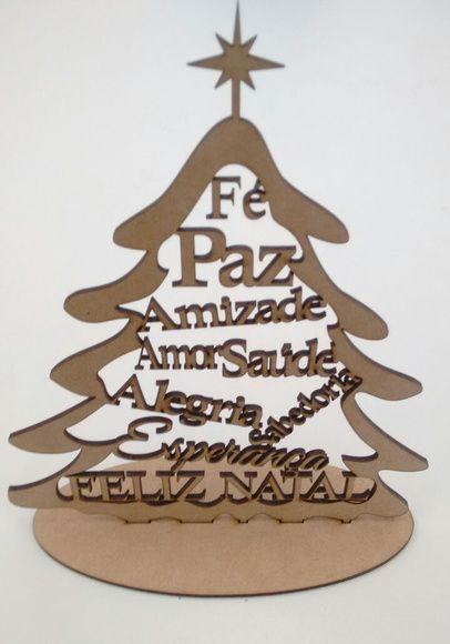 Arvore De Natal Mdf 20cm Artesanato De Natal Arvore De