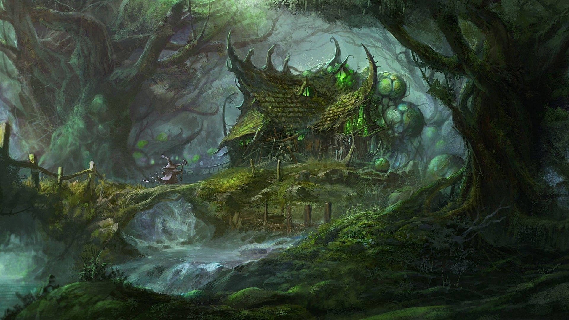 1920x1080 Fantasy Forest Wallpaper Fantasy Forest Forest Art Fantasy Landscape