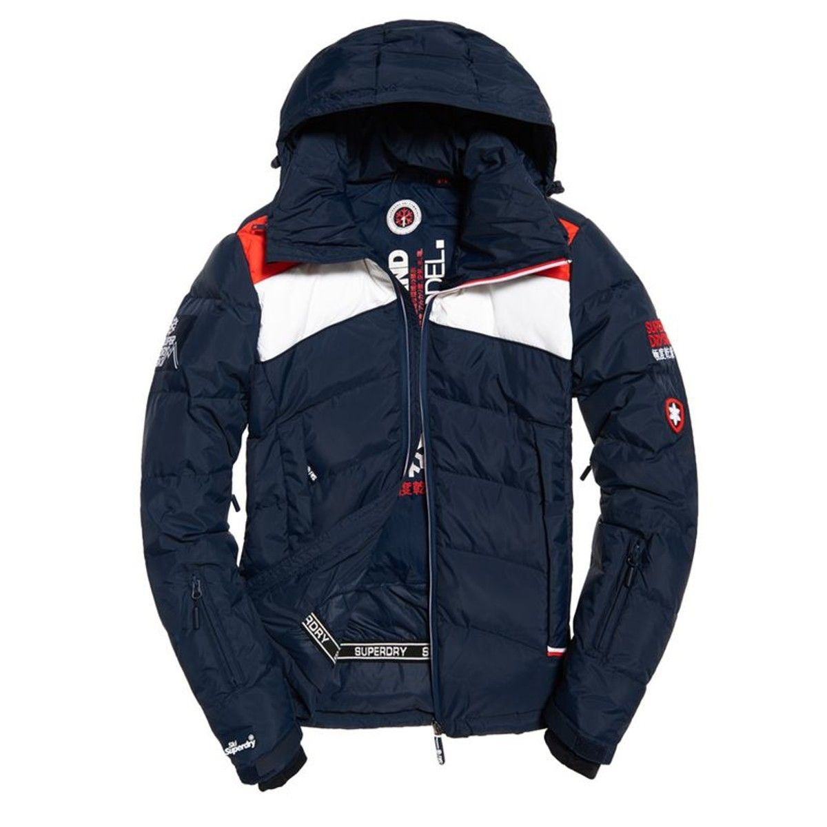 10c7dab2778 Mens - Scuba Carve Hooded Jacket in Navy red
