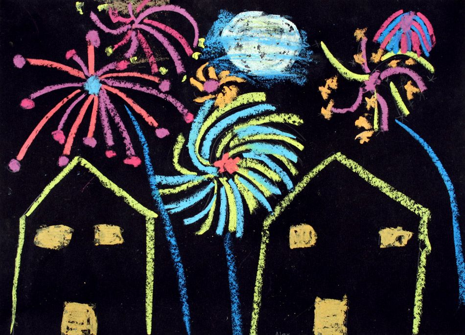 feuerwerk malen google suche kunst art for kids. Black Bedroom Furniture Sets. Home Design Ideas
