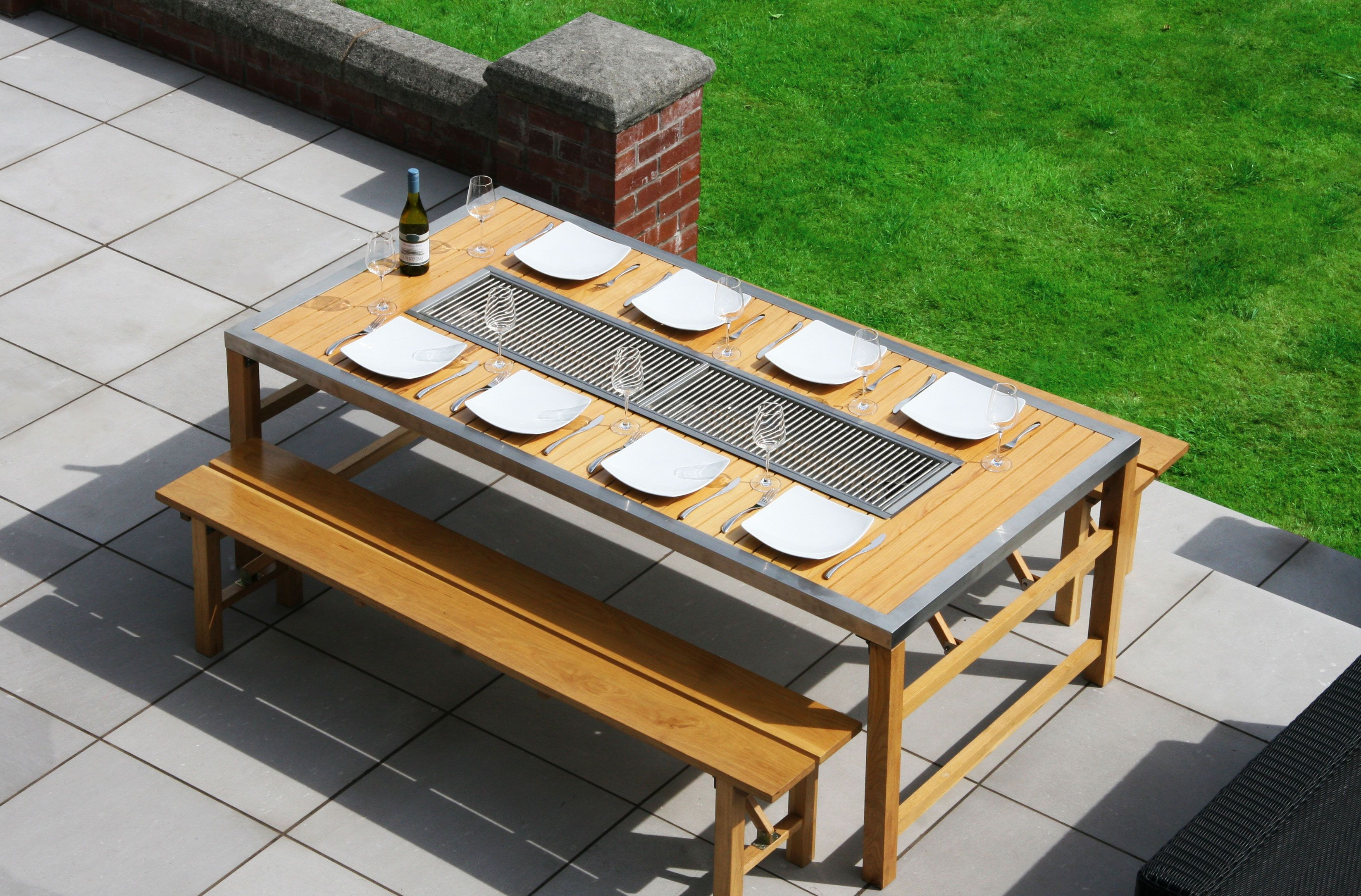6 8 Seat Barbecue Table
