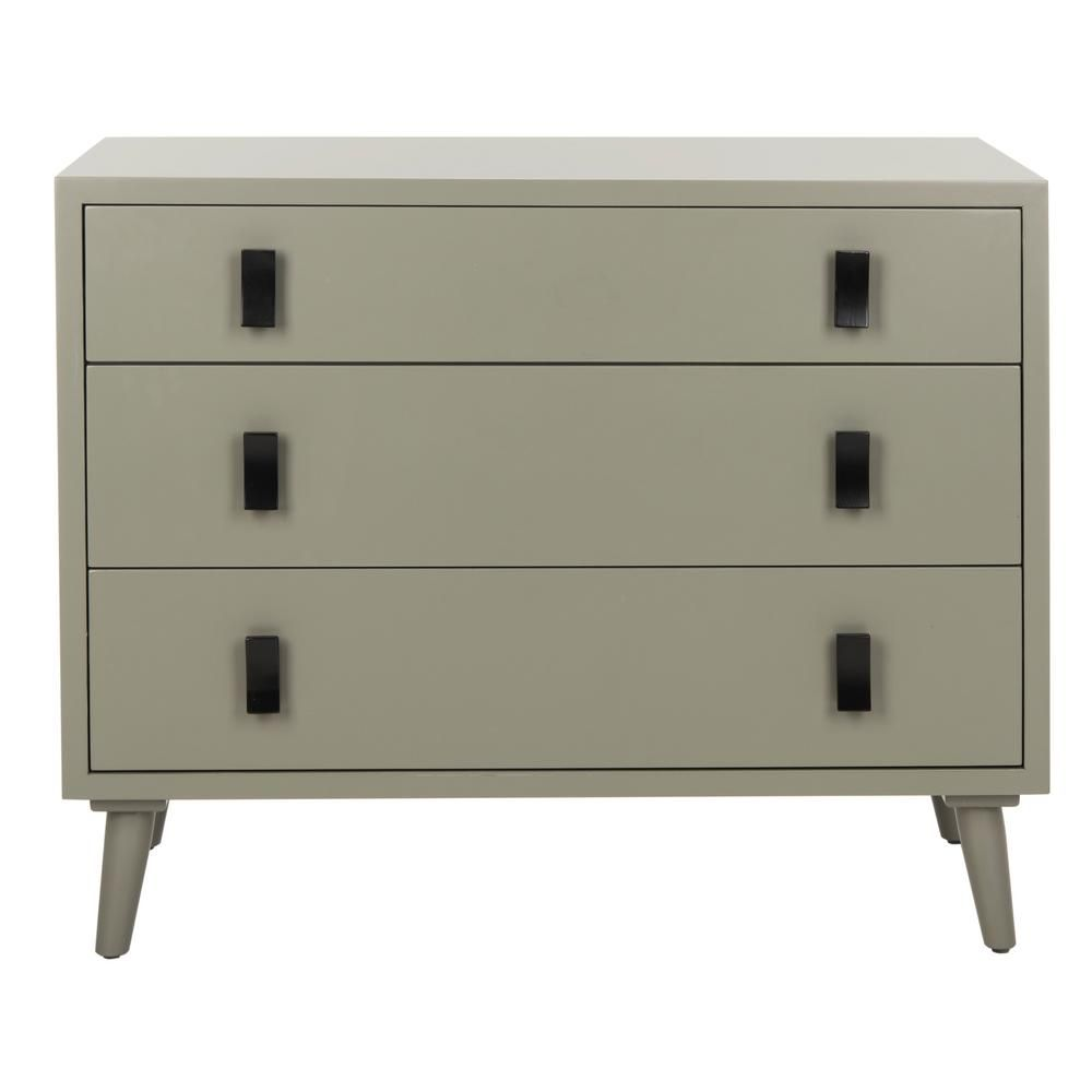 Safavieh Blaize 3 Drawer Dark Gray Black Chest Chs6601a The Home Depot Three Drawer Chest Chest Of Drawers 3 Drawer Chest [ 1000 x 1000 Pixel ]