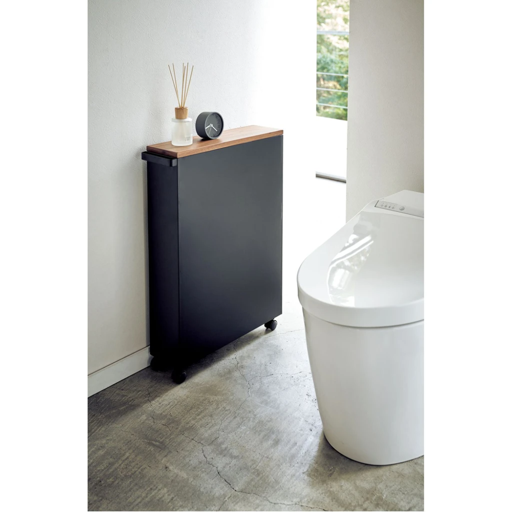 Photo of Tower Rolling Slim Bathroom Cart With Handle in Various Colors