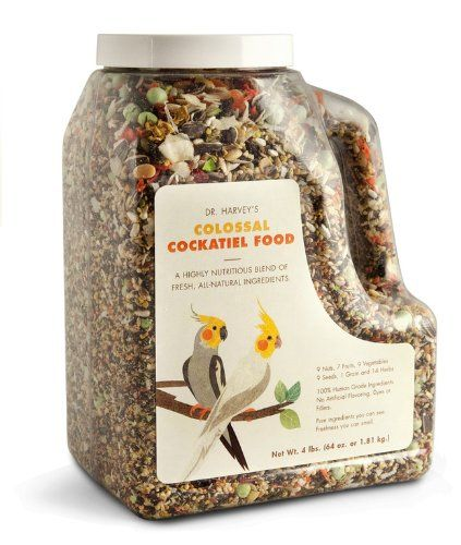 Dr. Harvey's Colossal Blend Natural Food for Cockatiels, 2-Pound Bag Dr. Harvey's,http://www.amazon.com/dp/B001B185TK/ref=cm_sw_r_pi_dp_KLpwtb1PT57X6Q2M