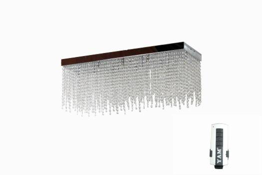 Plafoniera Rettangolare Cristallo : Lampadario plafoniera 12 luci con cristalli tutti svalzati a doppio