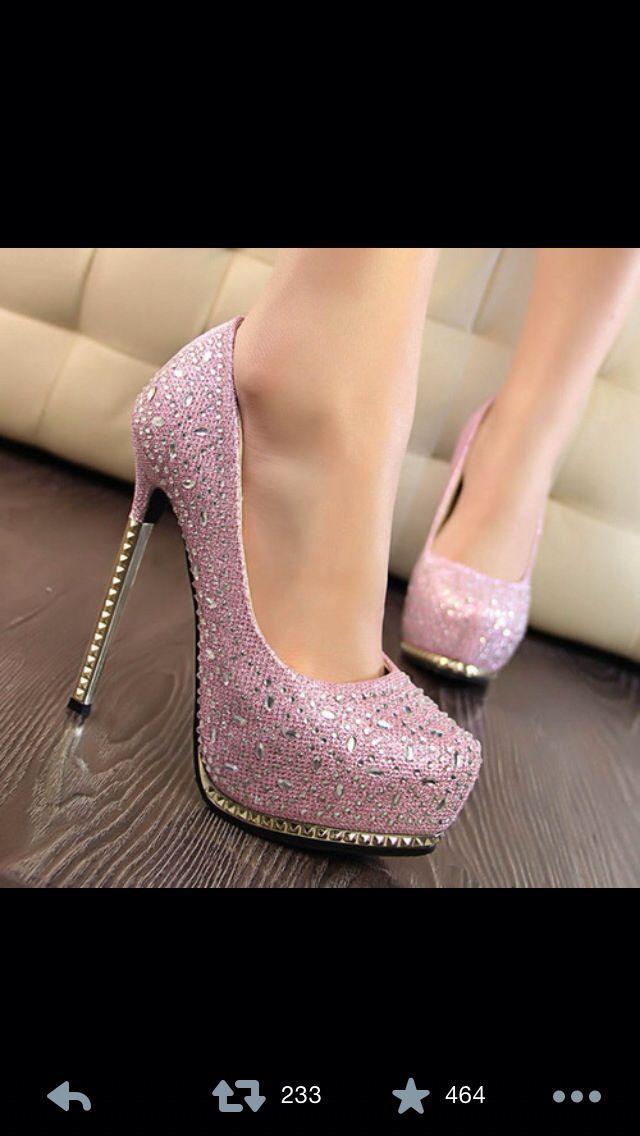 a5775a774bcb sparkly pink heels