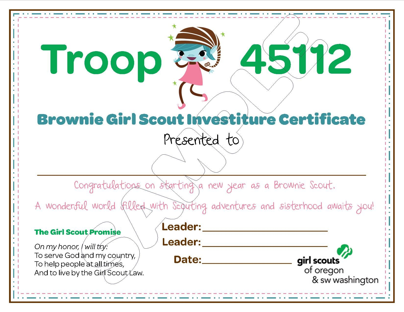 Brownie Troop Investiture With Images