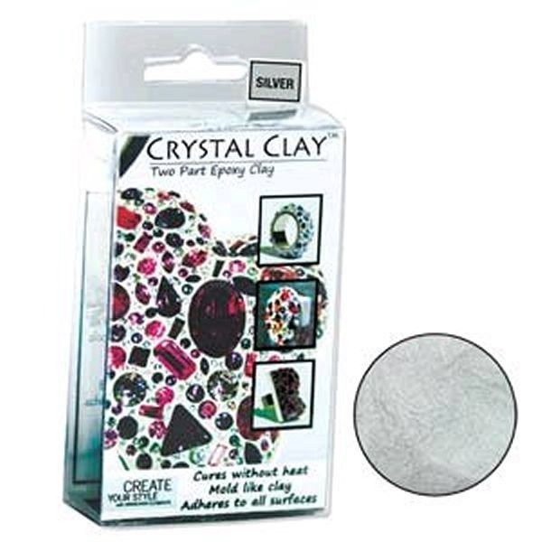 Crystal Clay Two Part Epoxy Mix - Silver