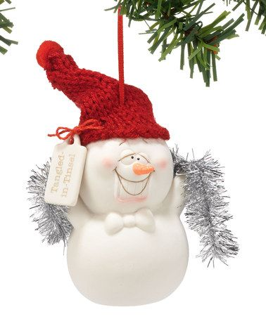 Snowpinions Snowman Tangled in Tinsel Ornament Ornaments, Love