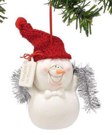 Snowpinions Snowman Tangled in Tinsel Ornament Ornaments, Love