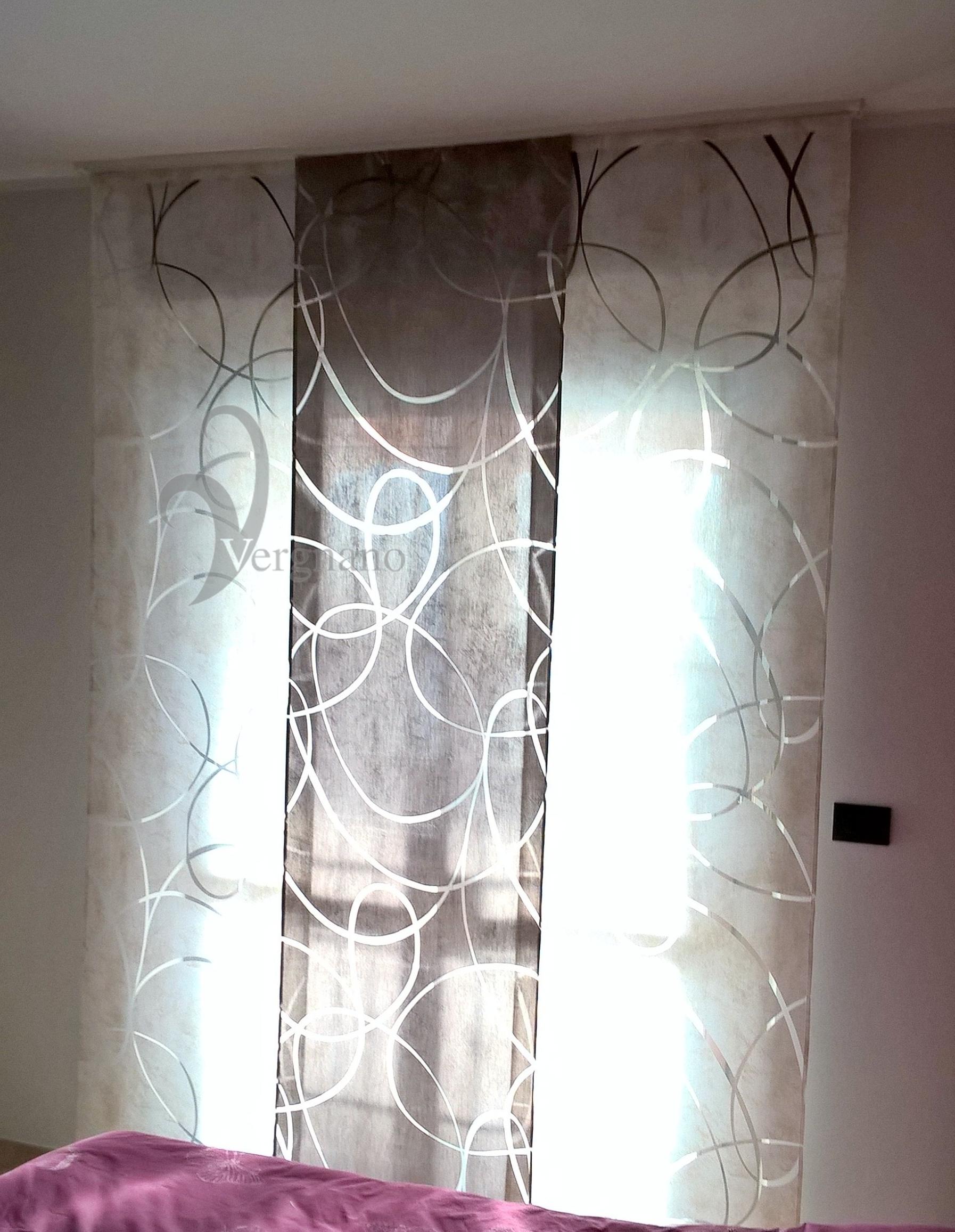 Tende a pannello moderne in tessuto devor stampato for Tende coprenti ikea