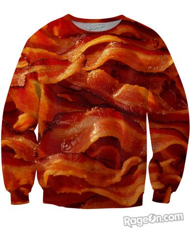Bacon All Over Print Sweatshirt - Rage On! - The World's Largest All-Over Print Online Retailer