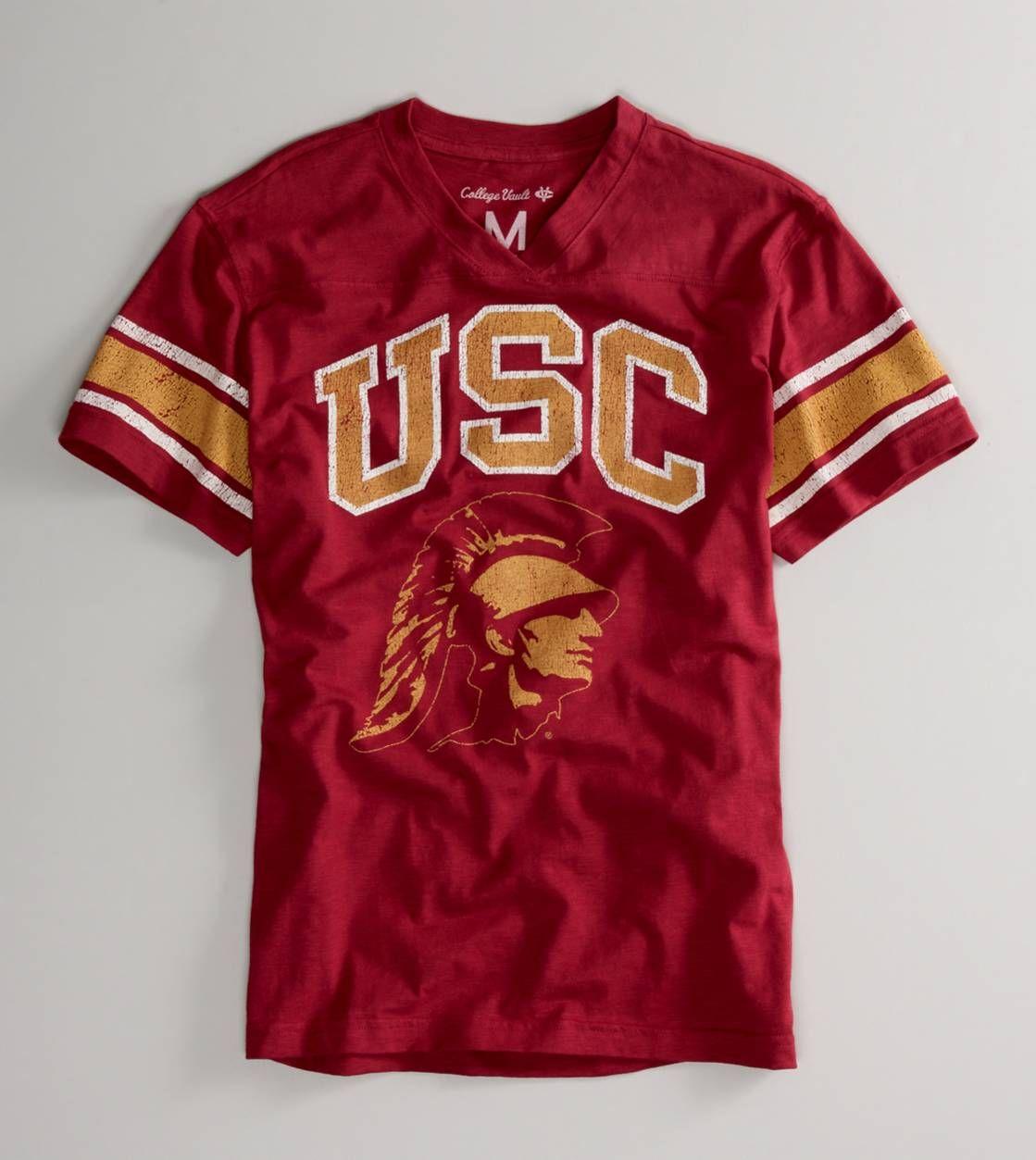 d51ddf8bc USC Vintage Football T-shirt (American Eagle) | My Sports Team Aka ...