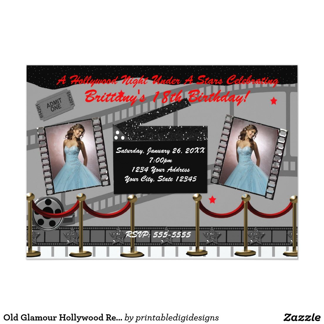 Roter Teppich Tickets Alte Roter Teppich Film Einladung Glamourhollywood