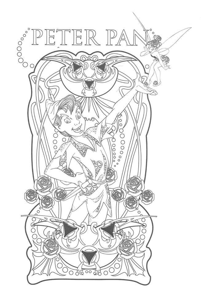 Pingl par marjolaine grange sur coloriage peter pan - Peter pan dessin anime gratuit ...