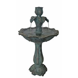 Antique 2 Tier Outdoor Fountain With Pump Fountains Outdoor