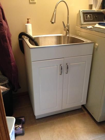 x 33 8 in stainless steel laundry sink