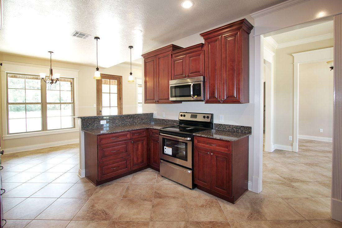 Cherry Maple Kitchen With Different Wall Height Cabinets How To Crown Molding On Different Wal Simple Kitchen Design Simple Kitchen Cabinets Kitchen Cabinets