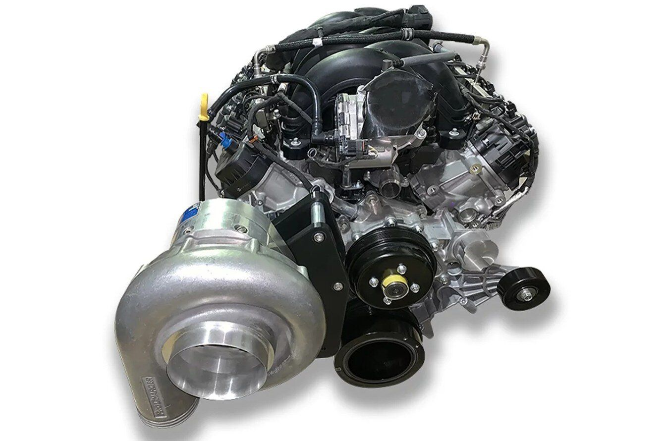 Ford S New Godzilla 7 3l Engine Is Getting Blown By Procharger Stangbangers In 2020 Ford Godzilla Ford News